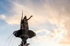 Το κύριο τετράγωνο Cusco Plaza de Armas σε Cusco, Περού Στοκ εικόνες με δικαίωμα ελεύθερης χρήσης