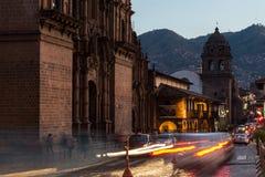 Το κύριο τετράγωνο Cusco Plaza de Armas σε Cusco, Περού Στοκ φωτογραφία με δικαίωμα ελεύθερης χρήσης
