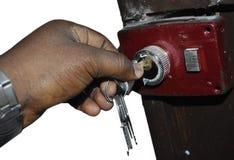 Το κλειδί ασφάλειας Στοκ Εικόνες