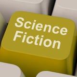 Το κλειδί επιστημονικής φαντασίας παρουσιάζει τα βιβλία και κινηματογράφους του Sci Fi Στοκ εικόνα με δικαίωμα ελεύθερης χρήσης