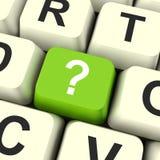 Το κλειδί ερωτηματικών παρουσιάζει την αμφιβολία και βοήθεια Στοκ Εικόνες