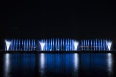 Το λέιζερ παρουσιάζει σε Maltepe, Τουρκία Σκηνή, πυρκαγιά στοκ εικόνες