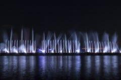 Το λέιζερ παρουσιάζει σε Maltepe, Τουρκία Σκηνή, πυρκαγιά στοκ φωτογραφίες