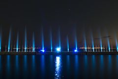 Το λέιζερ παρουσιάζει σε Maltepe, Τουρκία Σκηνή, πυρκαγιά στοκ φωτογραφία με δικαίωμα ελεύθερης χρήσης