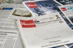 Το Λα Presse δημοσιεύει την τελική έκδοση τυπωμένων υλών Στοκ εικόνα με δικαίωμα ελεύθερης χρήσης