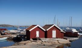 το λιμάνι ρίχνει μικρά δύο Στοκ Φωτογραφία