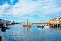 Το λιμάνι σε Whitby Στοκ Εικόνα