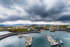Το λιμάνι της πόλης Vesturland Ισλανδία Stykkisholmur ΕΙΝΑΙ Ευρώπη στοκ εικόνες