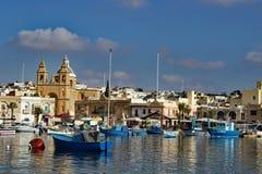 Το λιμάνι Marsaxlokk Μάλτα στοκ εικόνες
