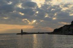 Το λιμάνι Sanary sur Mer στοκ εικόνες