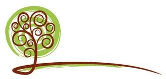 Το λογότυπο δέντρων Στοκ φωτογραφία με δικαίωμα ελεύθερης χρήσης