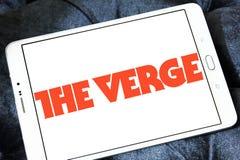 Το λογότυπο δικτύων ειδήσεων και μέσων τεχνολογίας άκρων Στοκ εικόνα με δικαίωμα ελεύθερης χρήσης