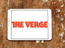 Το λογότυπο δικτύων ειδήσεων και μέσων τεχνολογίας άκρων Στοκ Εικόνα