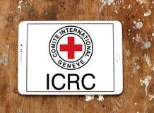 Το λογότυπο ΕΡΥΘΡΩΝ ΣΤΑΥΡΏΝ Διεθνούς Επιτροπής Ερυθρού Σταυρού Στοκ φωτογραφίες με δικαίωμα ελεύθερης χρήσης