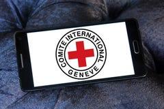 Το λογότυπο ΕΡΥΘΡΩΝ ΣΤΑΥΡΏΝ Διεθνούς Επιτροπής Ερυθρού Σταυρού Στοκ Εικόνες