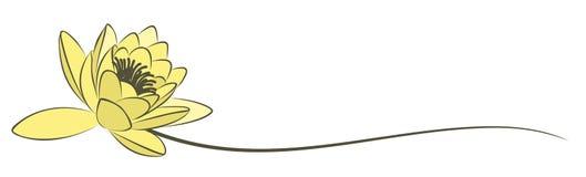 Το λογότυπο λωτού Στοκ φωτογραφία με δικαίωμα ελεύθερης χρήσης
