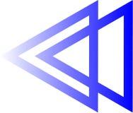 Το λογότυπο τριγώνων είναι παράλληλο στοκ εικόνα με δικαίωμα ελεύθερης χρήσης