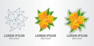 Το λογότυπο χωρίζει σε τετράγωνα Στοκ Εικόνες