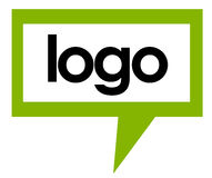 το λογότυπο 2 μιλά το πρότυ& ελεύθερη απεικόνιση δικαιώματος