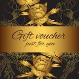 Το λουλούδι αποδείξεων δώρων σκιαγραφεί το ιπτάμενο ελεύθερη απεικόνιση δικαιώματος