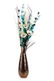 το λουλούδι ρύθμισης απομόνωσε μοντέρνο ψηλό vase Στοκ Φωτογραφία