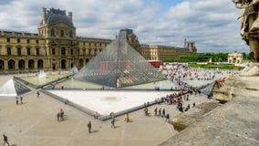 Το Λούβρο, Παρίσι άνωθεν Στοκ Εικόνες