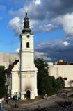 Το Μάιο του 2015 , Νόβι Σαντ, Σερβία, Ορθόδοξη Εκκλησία του ιερού crkva Uspenska ανάβασης μητέρων ` s τη νεφελώδη ημέρα Στοκ φωτογραφία με δικαίωμα ελεύθερης χρήσης
