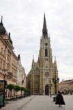 Το Μάιο του 2015 , Νόβι Σαντ, Σερβία, το όνομα της εκκλησίας της Mary, Ρωμαίος - καθολική εκκλησία κοινοτήτων Στοκ Εικόνες