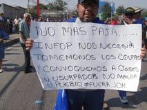Το Μάιο του 2019 20 της Τεγκουσιγκάλπα Ονδούρα διαδηλώσεων διαμαρτυρίας ημέρας εργασίας στοκ φωτογραφία