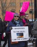 Το Μάρτιο του 2018 γυναικών ` s του Χάρτφορντ Στοκ εικόνες με δικαίωμα ελεύθερης χρήσης
