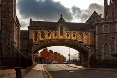 Το Μάρτιο του 2019 του Δουβλίνου, Ιρλανδία †« Αψίδα του καθεδρικού ναού εκκλησιών Χριστού στο Δουβλίνο, Ιρλανδία στοκ φωτογραφίες