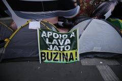 Το Μάρτιο του 2016 São Paulo διαμαρτυρίας οδών της Βραζιλίας στοκ εικόνες με δικαίωμα ελεύθερης χρήσης