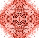 Το μάτι κοραλλιών διαβίωσης σκιάζει το mandala σύνθεσης σύστασης ή τη διακόσμηση, σχέδιο διανυσματική απεικόνιση