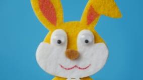 Το μάτι λαγουδάκι Πάσχας με έκπληκτος κοιτάζει φιλμ μικρού μήκους