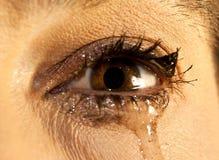 Το μάτι με αποτελεί να φωνάξει Στοκ εικόνα με δικαίωμα ελεύθερης χρήσης