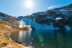 Το μάτι - ο βαθύτερος των παγετωδών λιμνών, βουνό Rila, Bulga Στοκ εικόνα με δικαίωμα ελεύθερης χρήσης