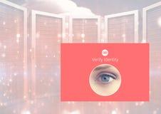 Το μάτι ταυτότητας ελέγχει App τη διεπαφή Στοκ εικόνες με δικαίωμα ελεύθερης χρήσης