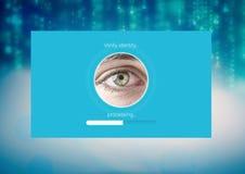 Το μάτι ταυτότητας ελέγχει App τη διεπαφή Στοκ φωτογραφία με δικαίωμα ελεύθερης χρήσης