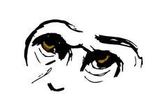 Το μάτι του πιθήκου (γορίλλας) Στοκ Φωτογραφία