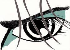 το μάτι φαίνεται αποφασισ& Στοκ Εικόνες