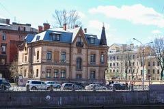 Το μέγαρο Schreter στο Moika Στοκ φωτογραφία με δικαίωμα ελεύθερης χρήσης