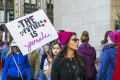 Το μέλλον είναι θηλυκό Στοκ Εικόνα