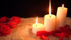 Το μήκος σε πόδηα του λουλουδιού αυξήθηκε, κάψιμο κεριών και βαλεντίνος διακοσμήσεων φιλμ μικρού μήκους