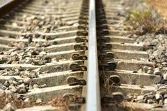Το μήκος της διαδρομής σιδηροδρόμων στοκ φωτογραφίες