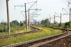 Το μήκος της διαδρομής σιδηροδρόμων Στοκ φωτογραφία με δικαίωμα ελεύθερης χρήσης