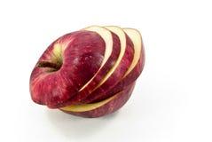 το μήλο έκοψε το κόκκινο Στοκ Φωτογραφία