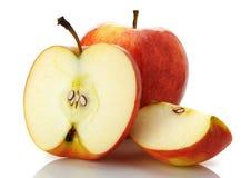 το μήλο έκοψε το σύνολο Στοκ φωτογραφία με δικαίωμα ελεύθερης χρήσης