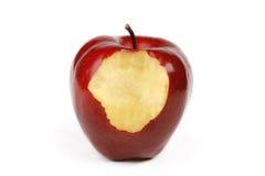 το μήλο δάγκωσε το κομμάτ& Στοκ εικόνες με δικαίωμα ελεύθερης χρήσης