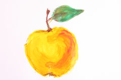 το μήλο που απομονώθηκε &k στοκ εικόνα με δικαίωμα ελεύθερης χρήσης