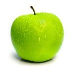 το μήλο ρίχνει πράσινο ώριμο στοκ εικόνα